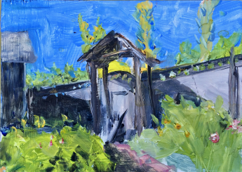 Front gate and prussian blue sold